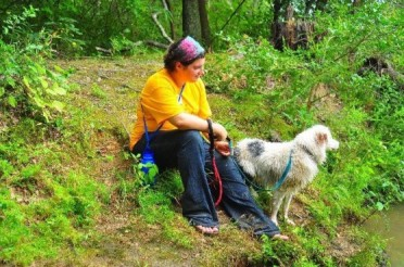 Force Free Fido: Natalie and her dog Haven on a hike